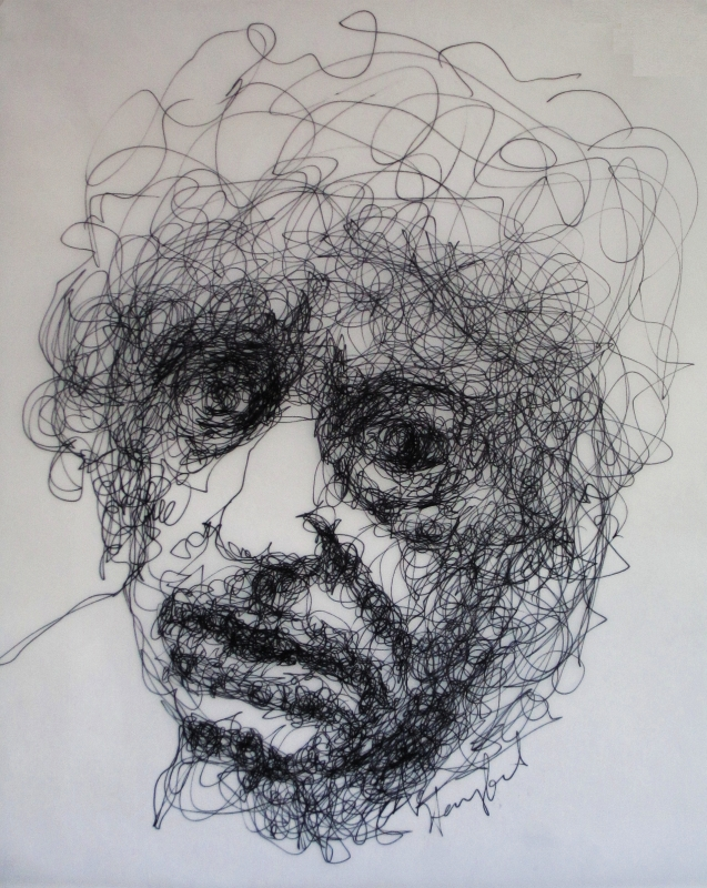 Ink Line Drawing Artists : Tachisme brett whiteley contemplates old age