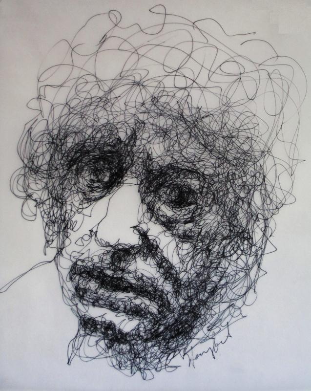 Pen Line Drawing Artists : Tachisme brett whiteley contemplates old age