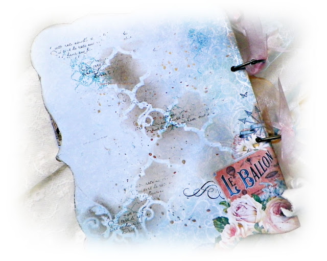 Mini Album Created by Lisa Novogrodski using  the September Scraps of Elegance Kit Lisa's Sweet September featuring Graphic 45 Gilded Lily and Blue Fern Studios Autumn Anthology