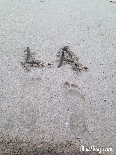 Los Angeles plage pieds LA