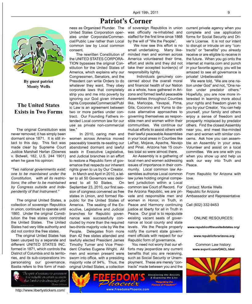 The DESERT FREEDOM PRESS: issue 9 page 9