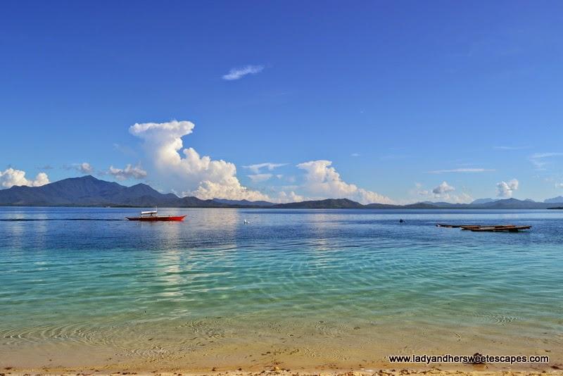 the glorious blue waters of Honda Bay in Palawan