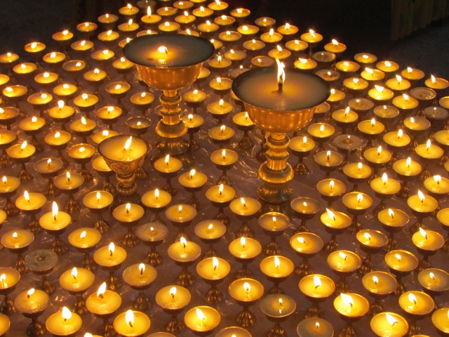 Bhutan Photo of the Week: Butter Lamps