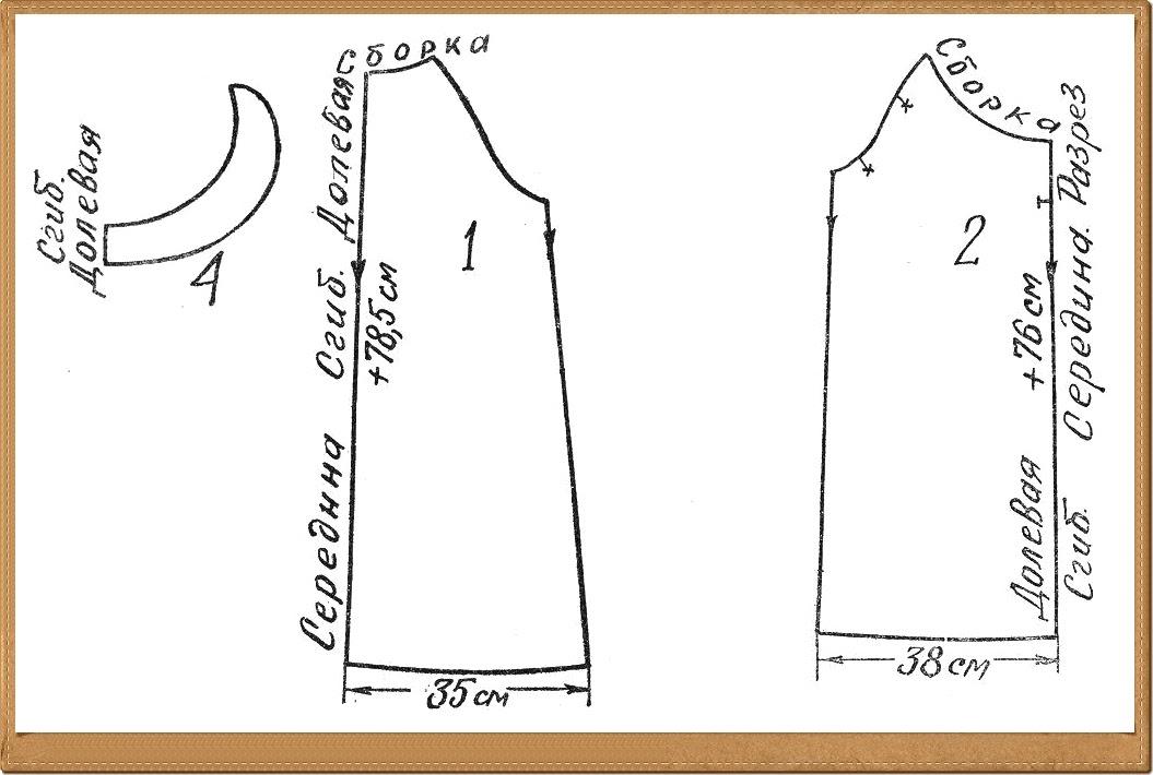 Как сшить ночную рубашку без выкройки 40