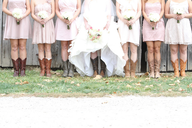 rustic wedding boots