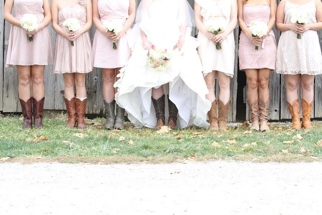 rustic wedding boots