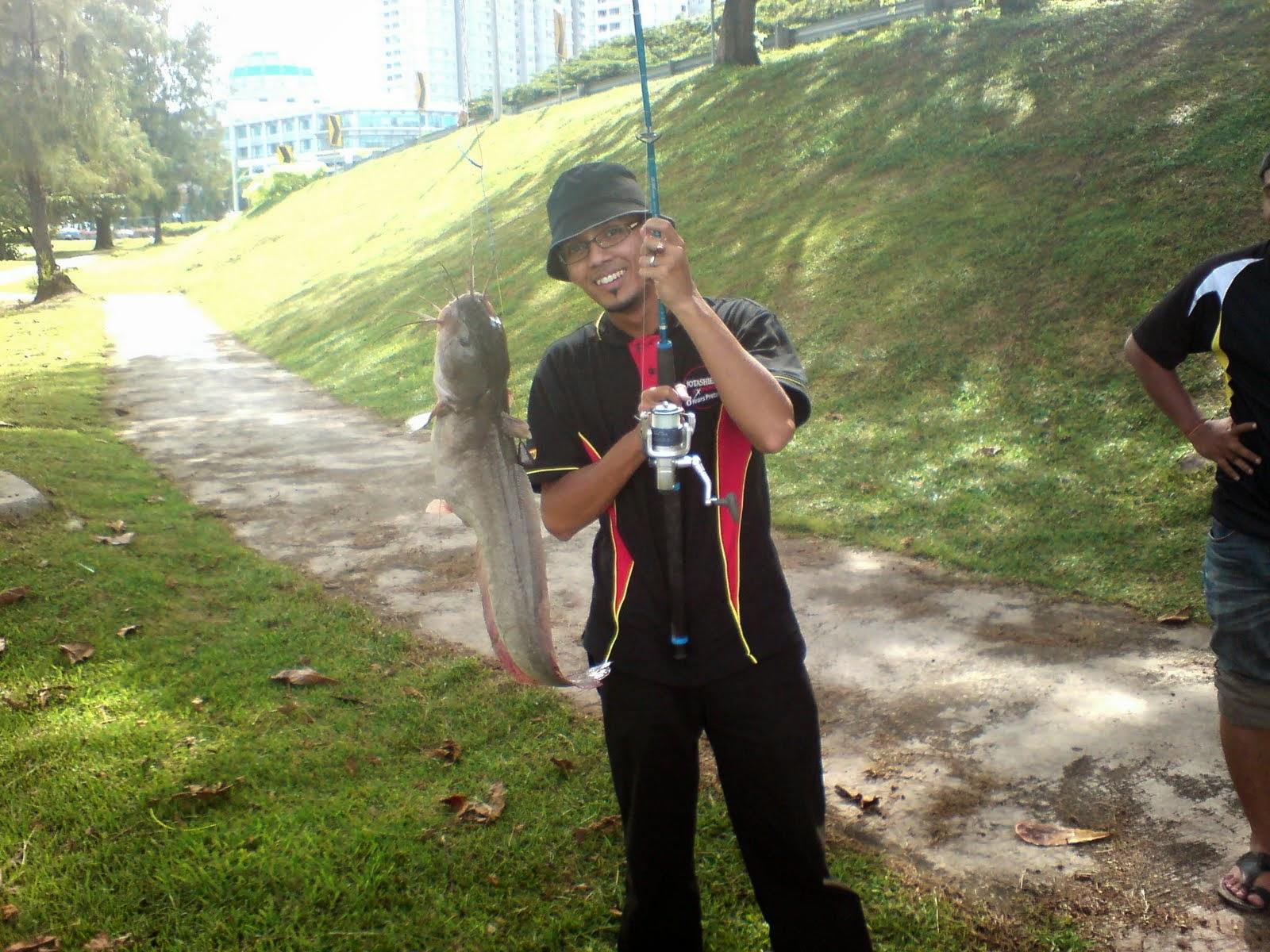 fishing, pancing, ikan semilang, ikan besar, jelutong expressway
