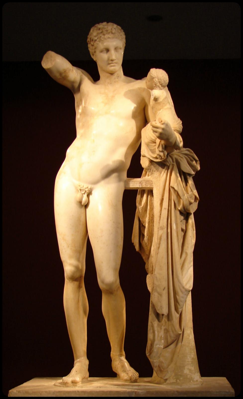 Curva praxiteliana - Praxiteles - escultura - contrapposto