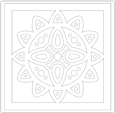 tile free hand embroidery pattern