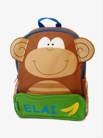 Funky Monkey Personalised Backpack