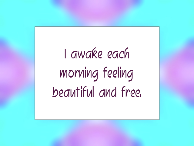 MORNING affirmation