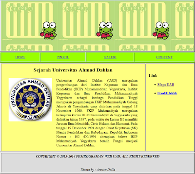 Membuat layout web menggunakan table everything just for for Table th td tf