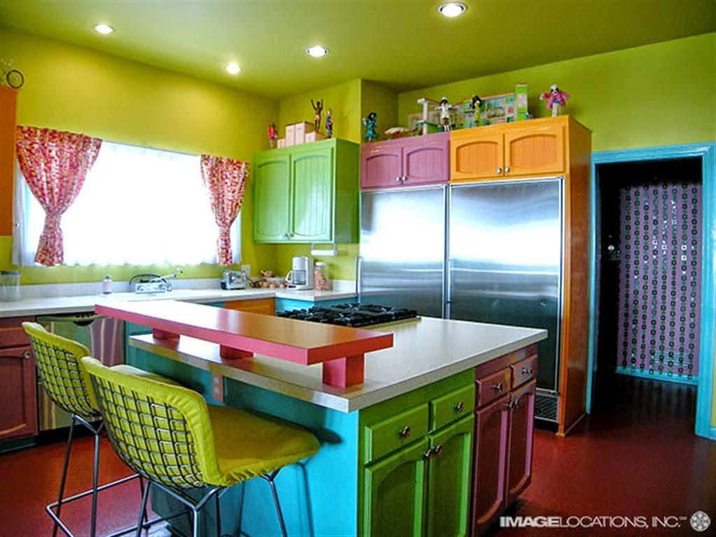 Cozinhas cheias de cores ~ Decoração e Ideias casa e jardim #7E8315 1024 768