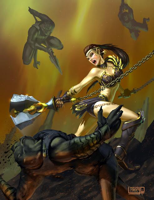 Larry T Quachs Art Blog: Taking a stab at Fantasy