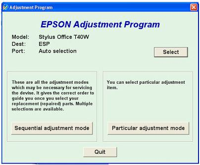 Epson Stylus T40w Resetter Download