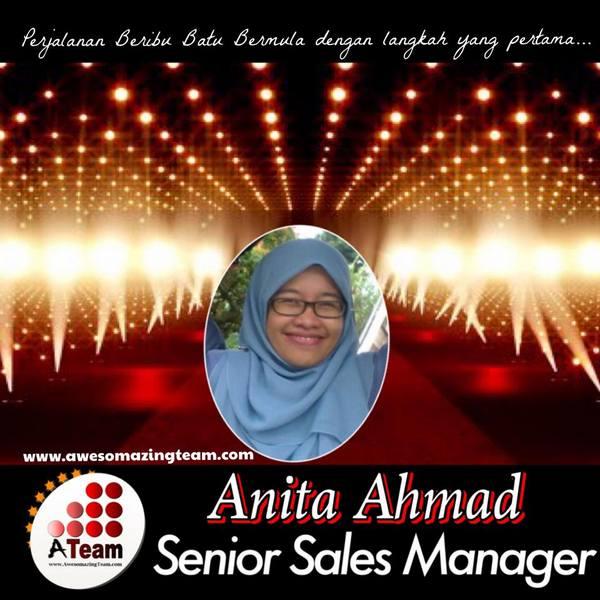 anita ahmad wakil ateam johor sebagai senior sales manager