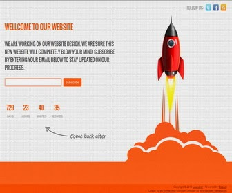Launcher Blogger Template