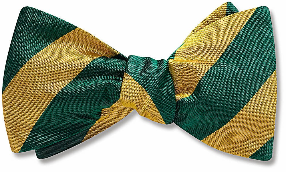 Green and Gold bow tie from Beau Ties Ltd.