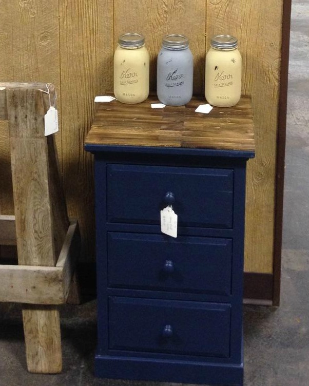 Beautiful Navy Blue End Table Designs