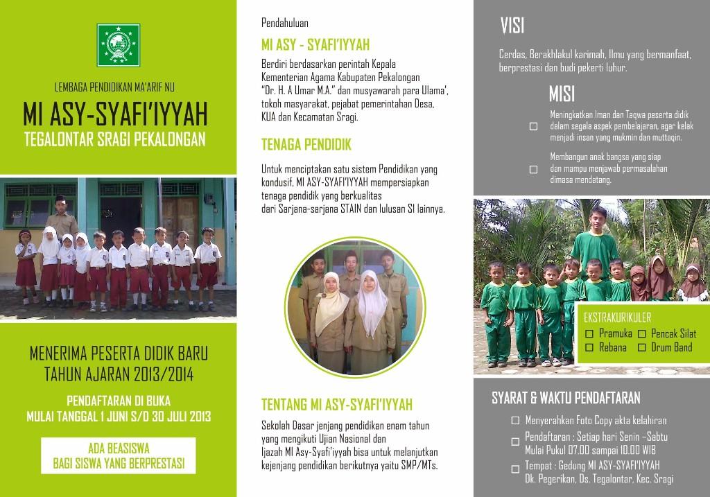 Brosur MI Asy-Syafi'iyyah