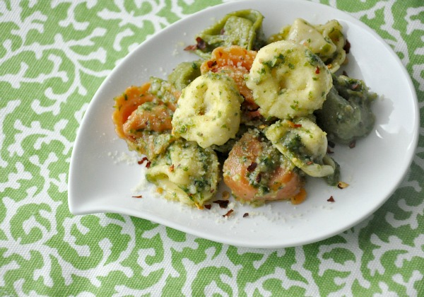 arugula pesto cheese tortellini