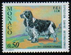 1971年モナコ公国 コッカー・スパニエルの切手