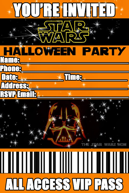 Free Printable Star Wars Halloween Party Invitation