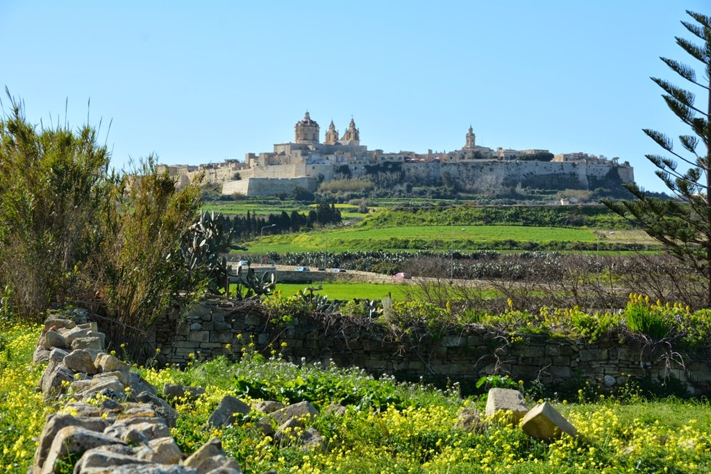 Mosta country side views on Mdina