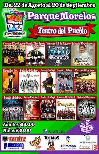 Artistas Teatro del Pueblo Feria Tijuana 2014
