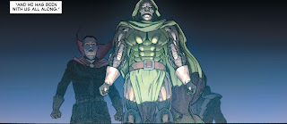 Stephen Strange and Dr Doom  Secret Wars 1