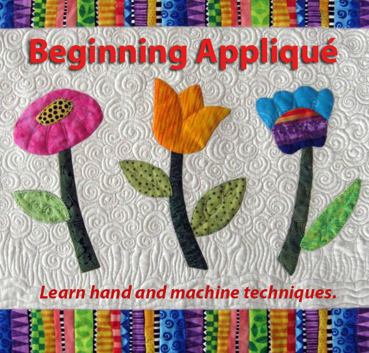 beginning appliqué quilting class