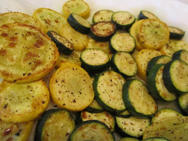 sauteed eggplant and zucchini