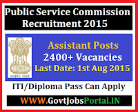 Karnataka PSC Recruitment 2015