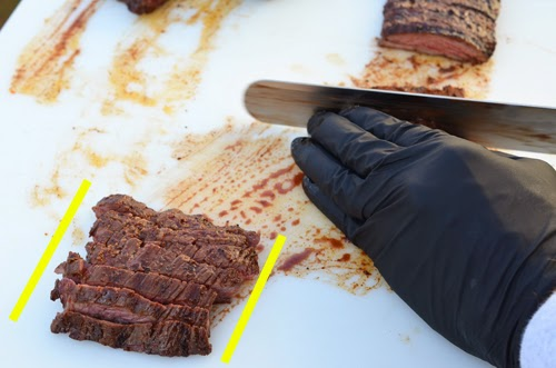 slicing skirt steak, how to