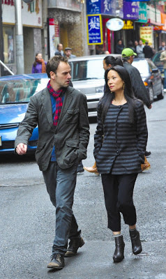 Jonny Lee Miller and Lucy Liu as Sherlock Holmes and Joan Watson Elementary Episode # 9 You Do It To Yourself