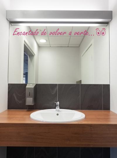 Vinilos baratos espejo con un toque personal for Espejos de pared baratos online