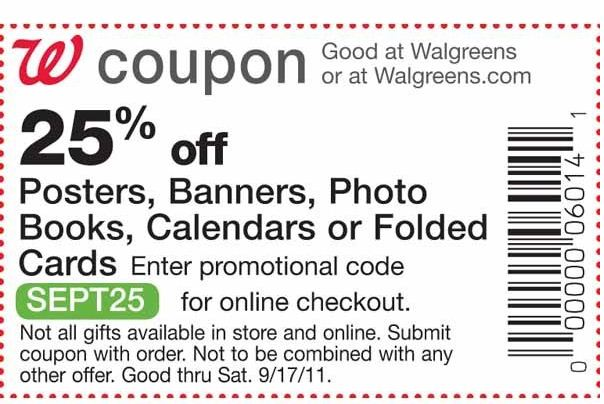 Walgreen photo coupon code