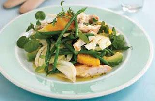 Chicken and orange salad