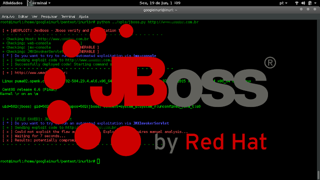 JexBoss is a tool for testing and exploiting vulnerabilities in JBoss Application Server. The script works, however ateramos the XPL order to use it in mass along with inurlbr scanner  All latches and test questions were withdrawn in order to be used in mass was added fução to save vulnerable sites.