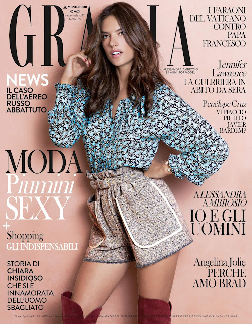 Supermodel, Actress @ Alessandra Ambrosio - Grazia Italy, November 2015
