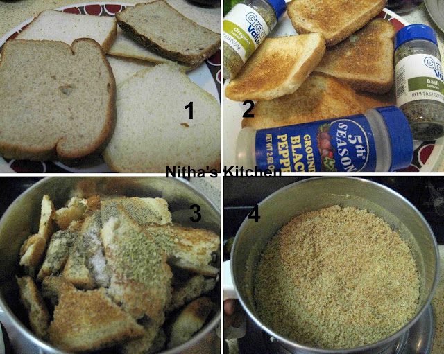 how to make bread crumbs stick to fish