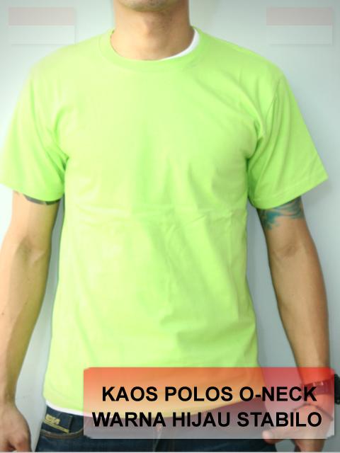 Hijau Stabilo Contoh Kaos Polos Warna