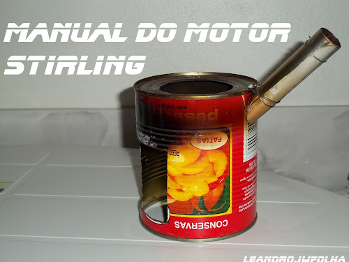 Manual do motor Stirling, forninho feito com lata de pêssego