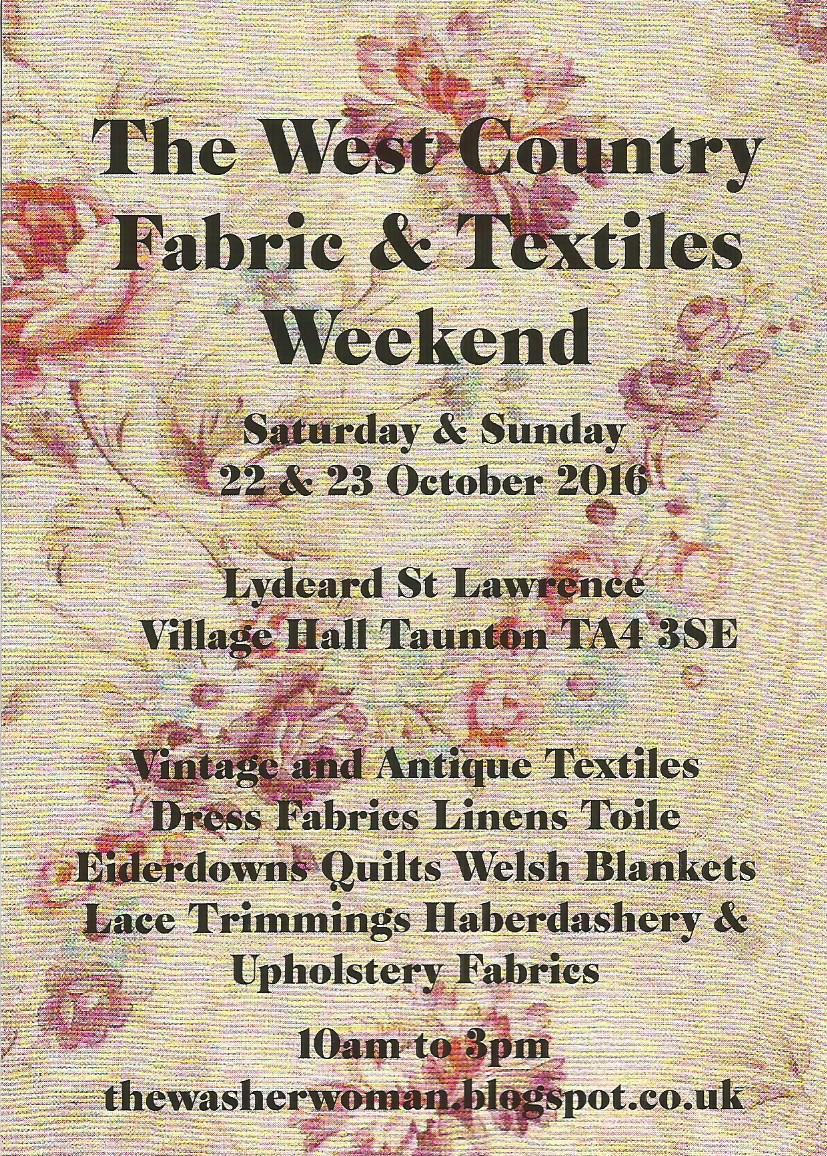 The West Country Fabric, Textiles and Costume weekend