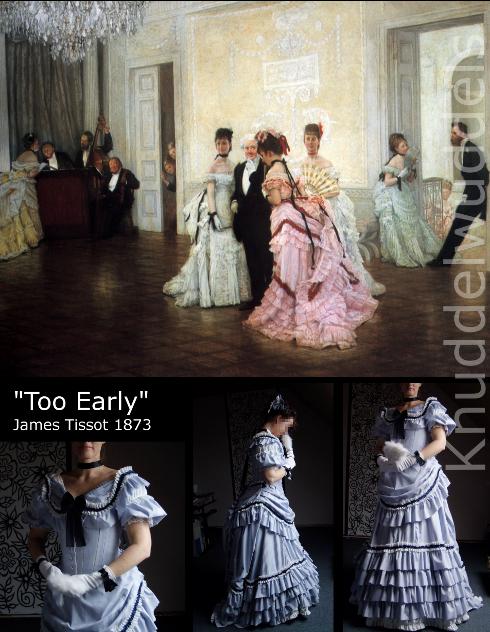 Too Early Tissot 1873 Gründerzeit Kleid