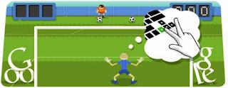 FUTEBOL DOODLE GOOGLE INTERATIVO JOGOS OLIMPICOS LONDON 2012 - SOCCER FOOTBALL