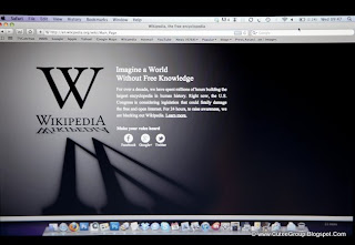 Wikipedia blacked out its Web pages on 18 January as part of a global protest against anti-piracy legislation making its way through Congress.