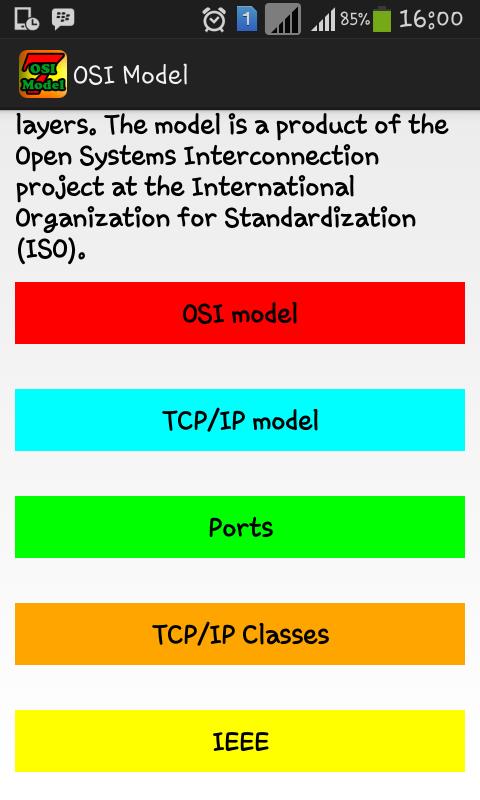 Aplikasi ISO MODEL & TCP/IP model