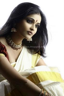 Vishnu priya malayalam actress saree