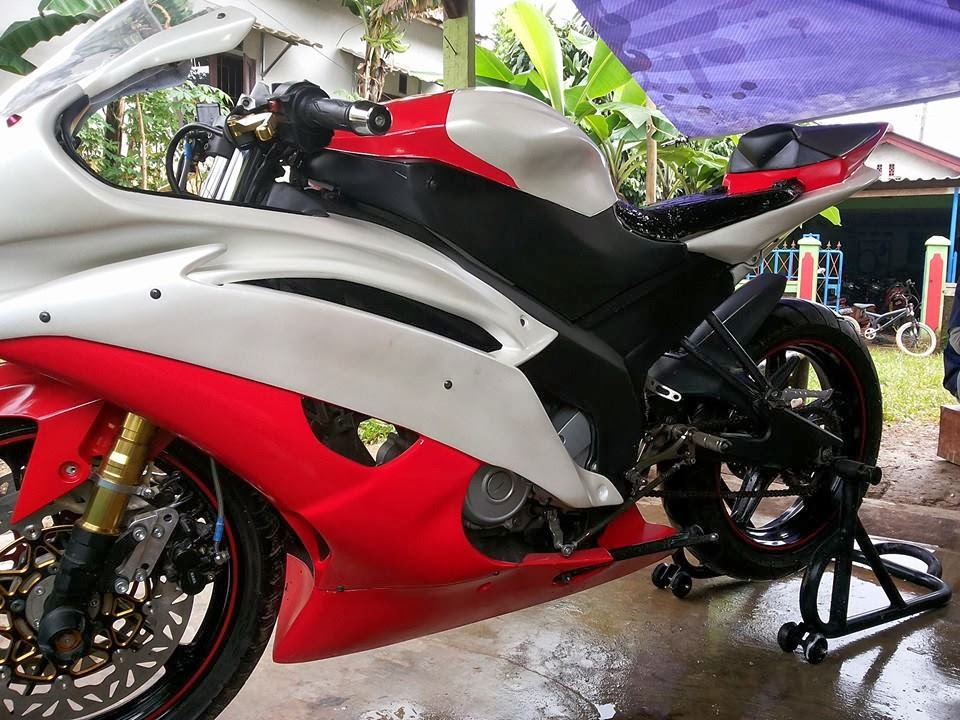 Modifikasi New Vixion full Fairing R6